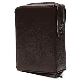 Divine office cover dark brown leather Christ Pantocrator with open book s4