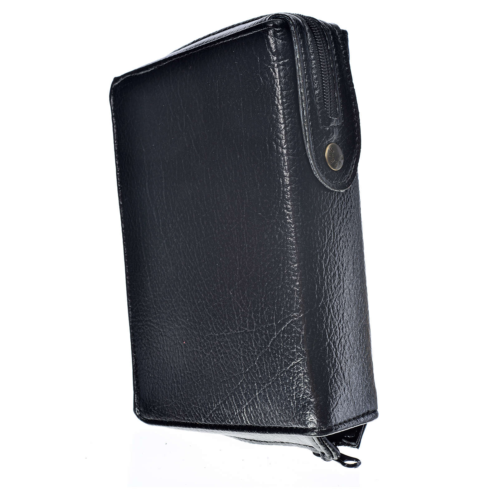 Divine office cover black bonded leather Our Lady of Tenderness 4
