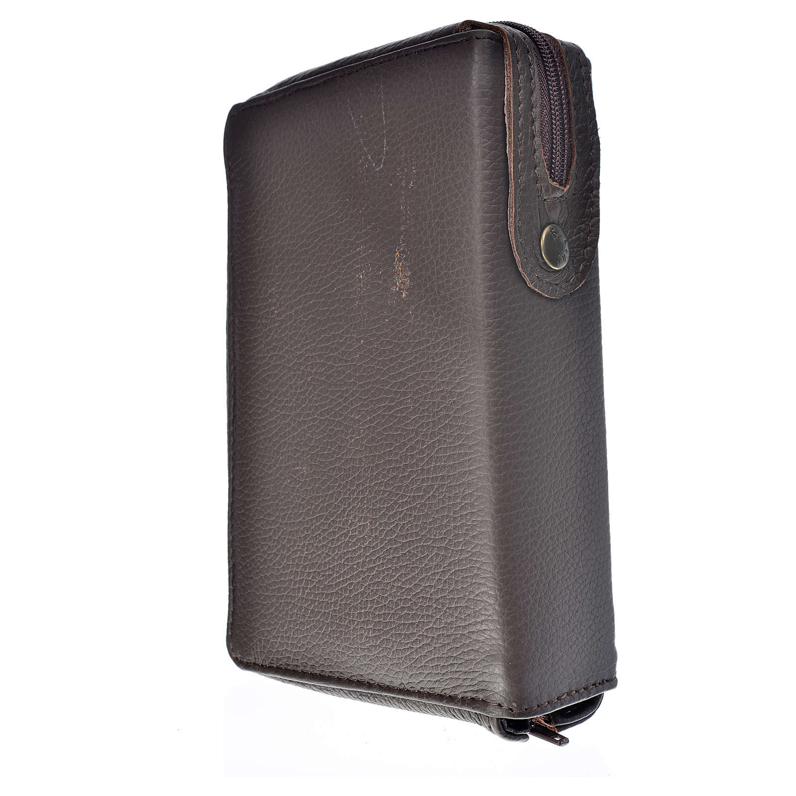 Divine Office cover dark brown leather Our Lady of Kiko 4