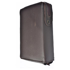 Divine Office cover dark brown leather Our Lady of Kiko s2