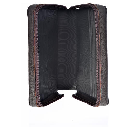 Divine Office cover dark brown leather Our Lady of Kiko 3
