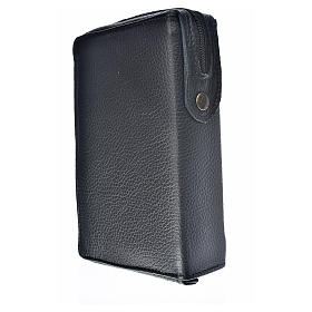 Divine office cover black leather Our Lady and Baby Jesus s2