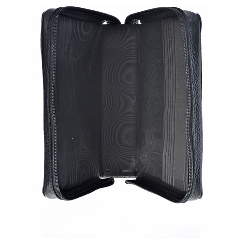 Divine office cover black leather Our Lady and Baby Jesus 3