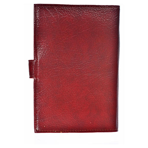 Cover for the Divine Office burgundy bonded leather Our Lady of the Tenderness 2
