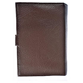 Cover for the Divine Office dark brown bonded leather Our Lady s2