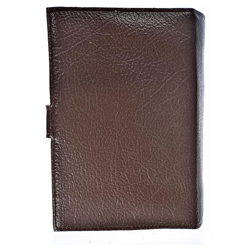 Cover for the Divine Office dark brown bonded leather Our Lady 2