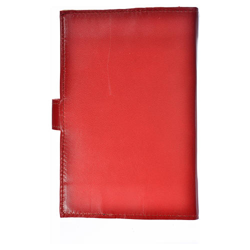 Cover for the Divine Office burgundy leather Our Lady of Kiko 2