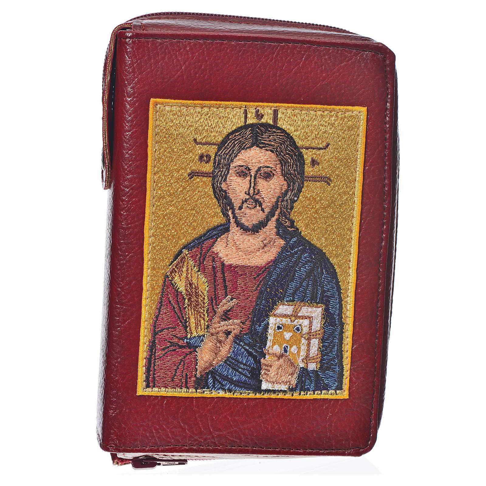 Ordinary Time III cover, burgundy bonded leather with image of the Christ Pantocrator 4