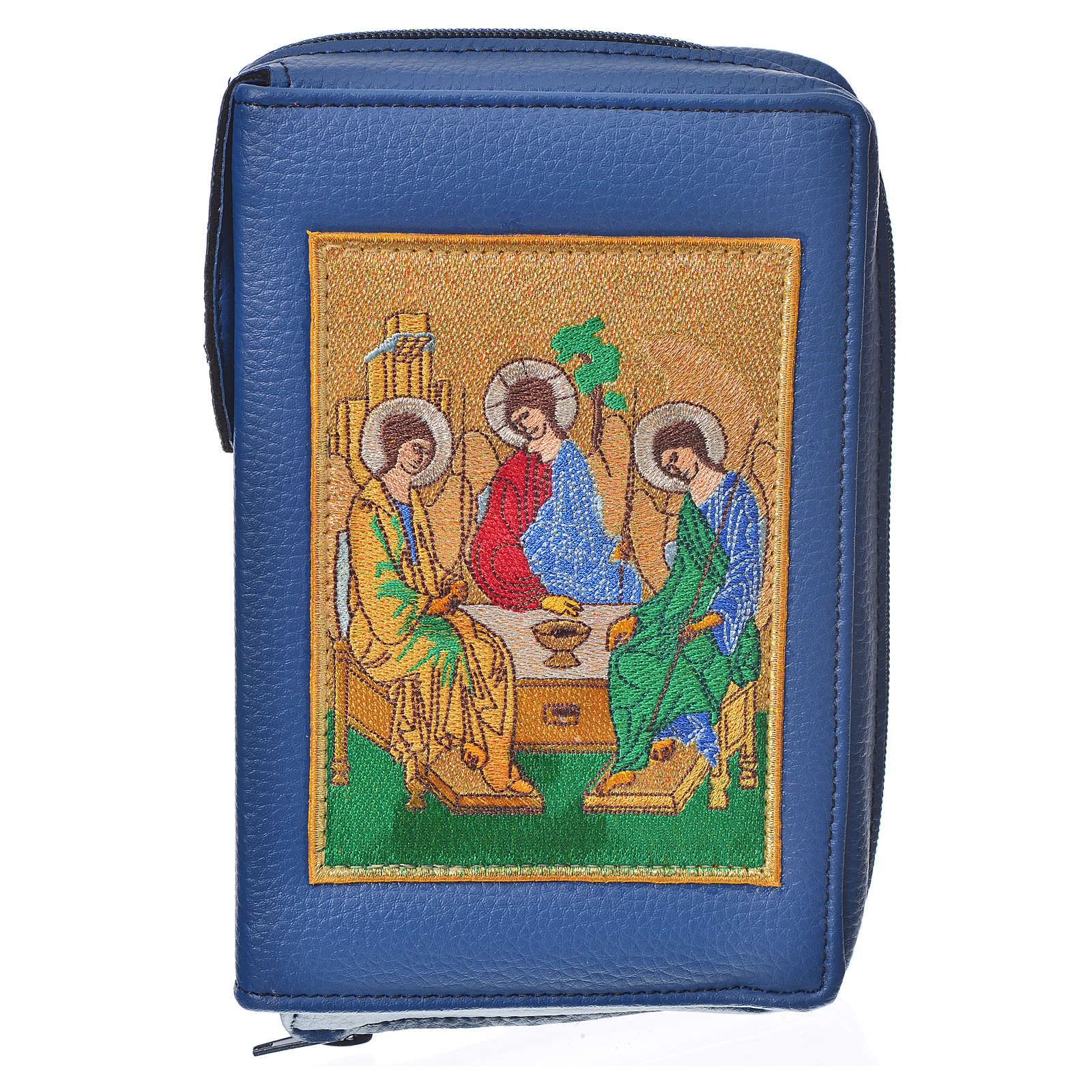 Liturgy of the Hours cover blue bonded leather with Holy Trinity 4