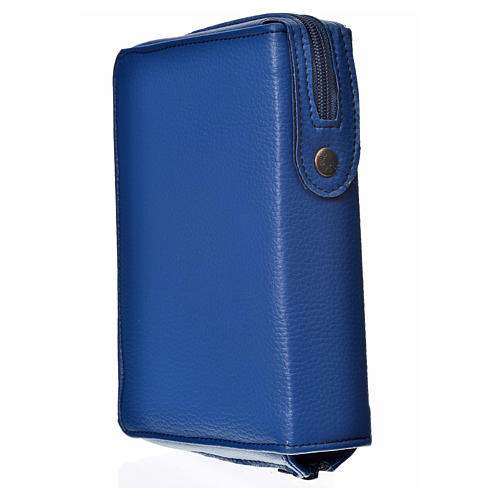 Liturgy of the Hours cover blue bonded leather with Holy Trinity 2