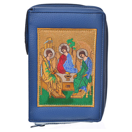 Liturgy of the Hours cover blue bonded leather with Holy Trinity 1