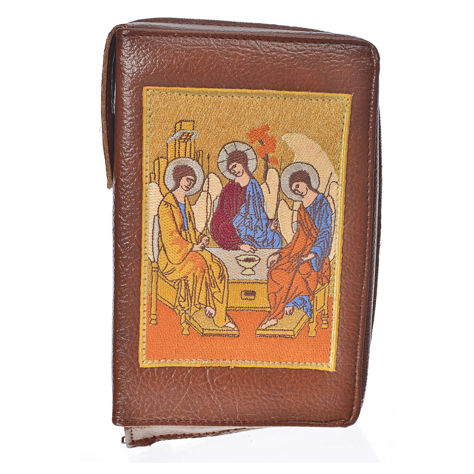 Cover Liturgy of the Hours in bonded leather with Holy Trinity 4