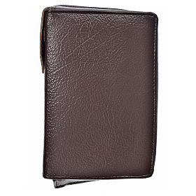Cover Liturgy of the Hours in dark brown bonded leather s1