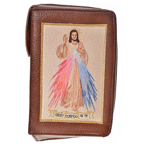 Cover Liturgy of the Hours in bonded leather with image of Divine Mercy 1