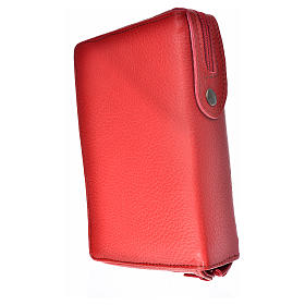 Breviary cover red leather Our Lady of Kiko s2