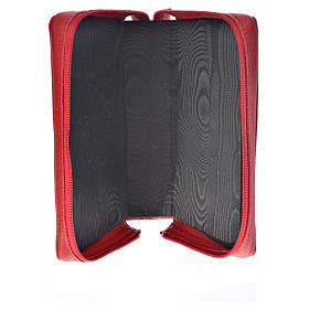 Breviary cover red leather Our Lady of Kiko s3