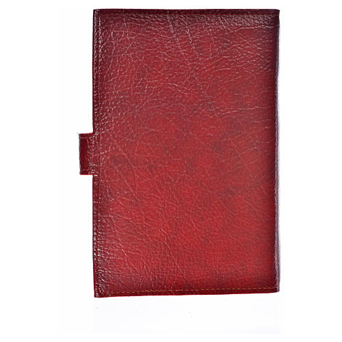 Ordinary time III cover in burgundy leather imitation with Our Lady image 2