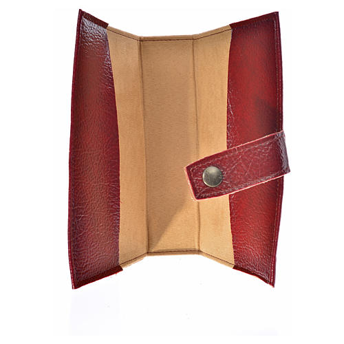 Ordinary time III cover in burgundy leather imitation with Our Lady image 3