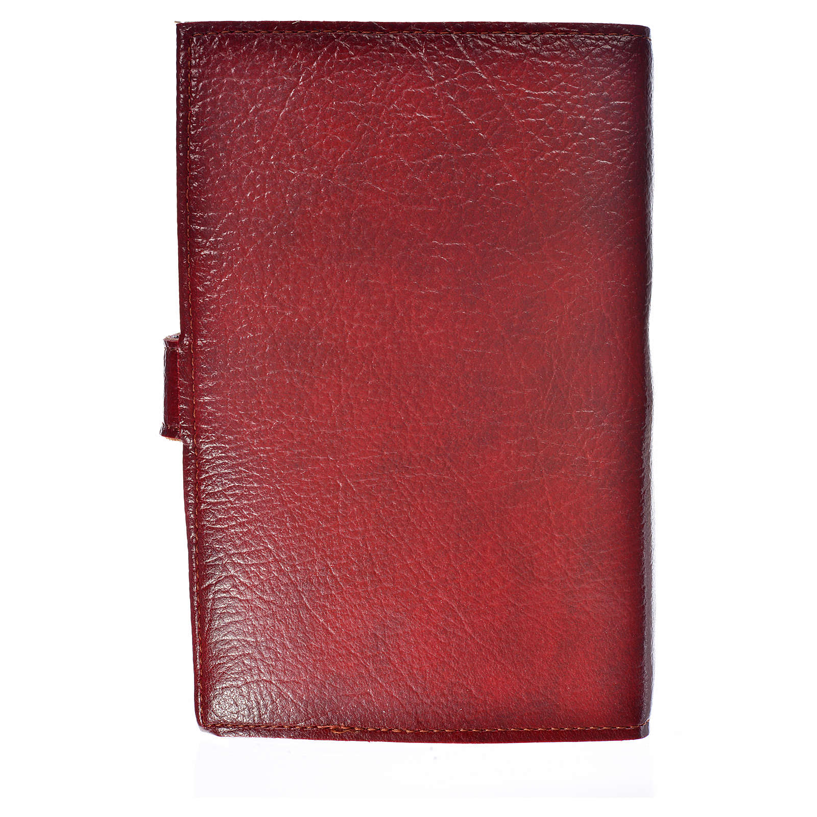 Ordinary time III cover in burgundy leather imitation with image of Jesus Christ 4