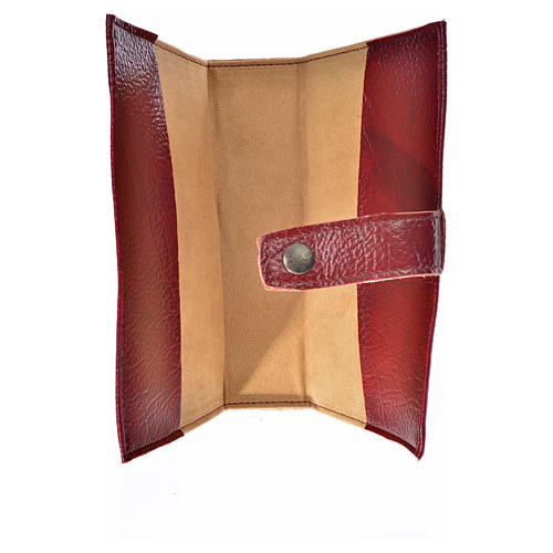 Ordinary time III cover in burgundy leather imitation with image of Jesus Christ 3