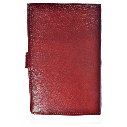Ordinary time III cover in burgundy leather imitation with image of Jesus Christ 2