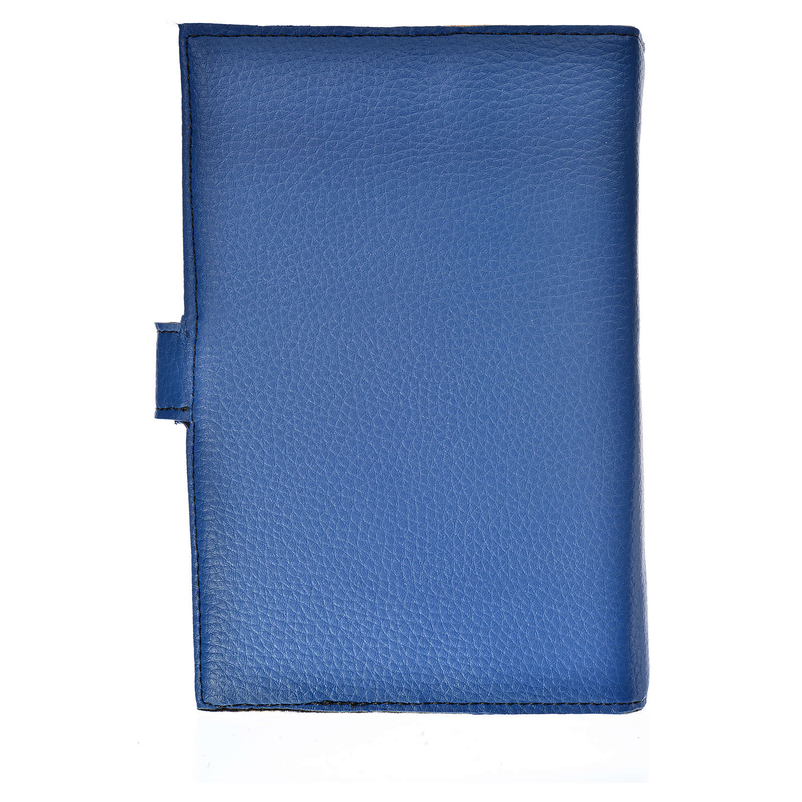 Cover for the Liturgy of the hours blue bonded leather Our Lady 4