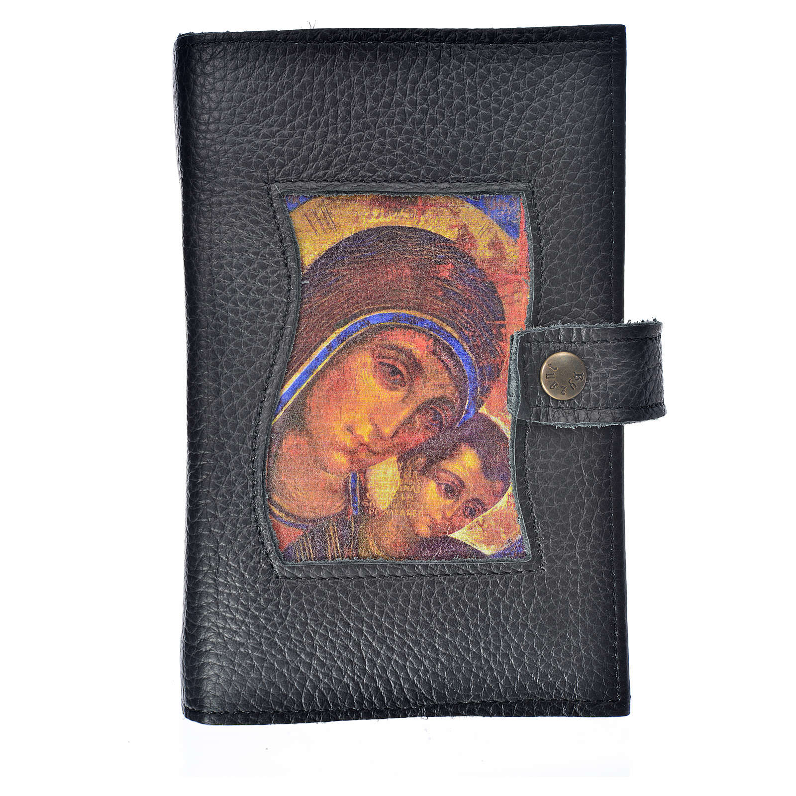 LIturgy of the Hours cover black bonded leather Our Lady of Kiko 4