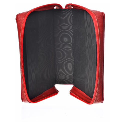 Morning & Evening prayer cover, red bonded leather with image of the Christ Pantocrator 3