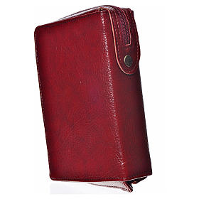 Morning & Evening prayer cover, burgundy bonded leather with image of the Christ Pantocrator s2