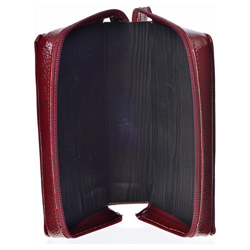 Morning & Evening prayer cover, burgundy bonded leather with image of the Christ Pantocrator 3