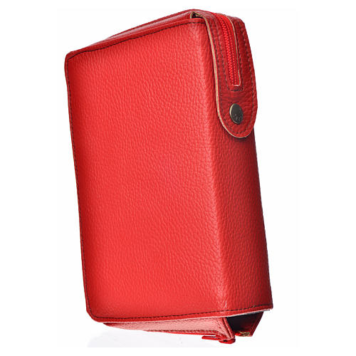 Morning & Evening prayer cover red bonded leather, Holy Family of Kiko 2