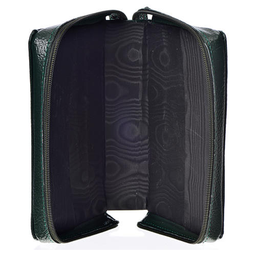 Morning & Evening prayer cover green bonded leather Holy Trinity 3
