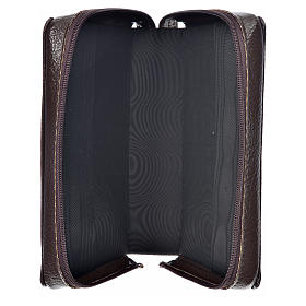 Morning & Evening prayer cover dark brown bonded leather with image of Christ Pantocrator s3
