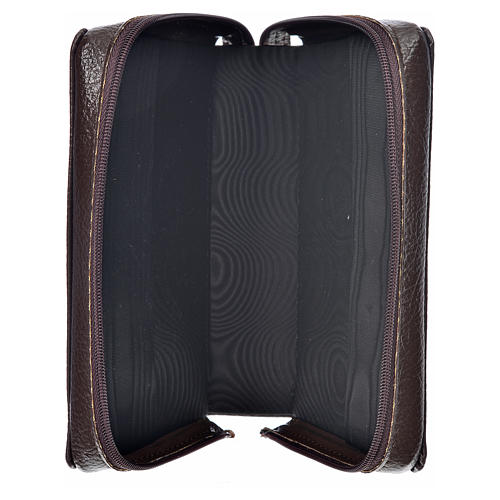 Morning & Evening prayer cover dark brown bonded leather with image of Christ Pantocrator 3