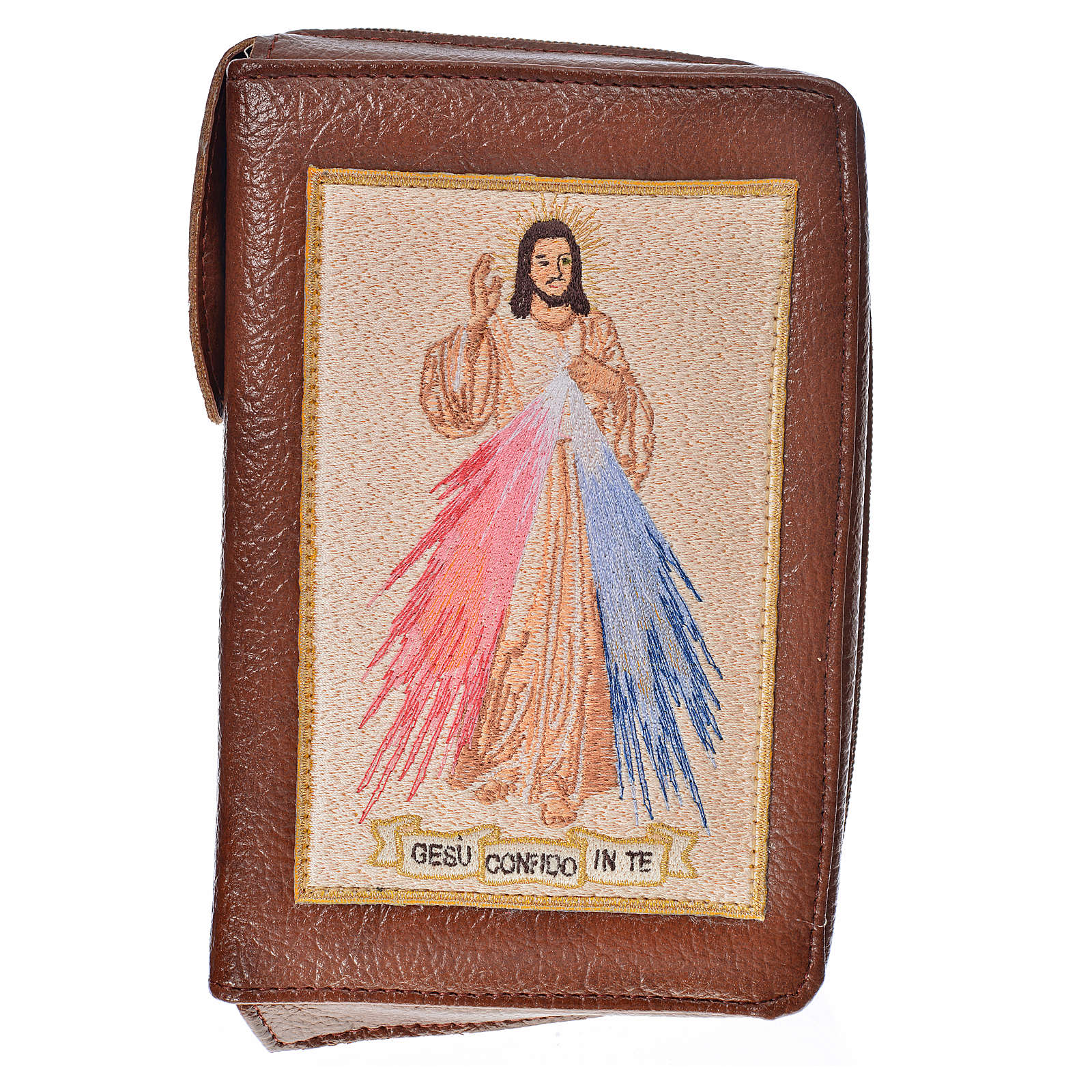 Cover Morning & Evening prayer in bonded leather with image of Divine Mercy 4