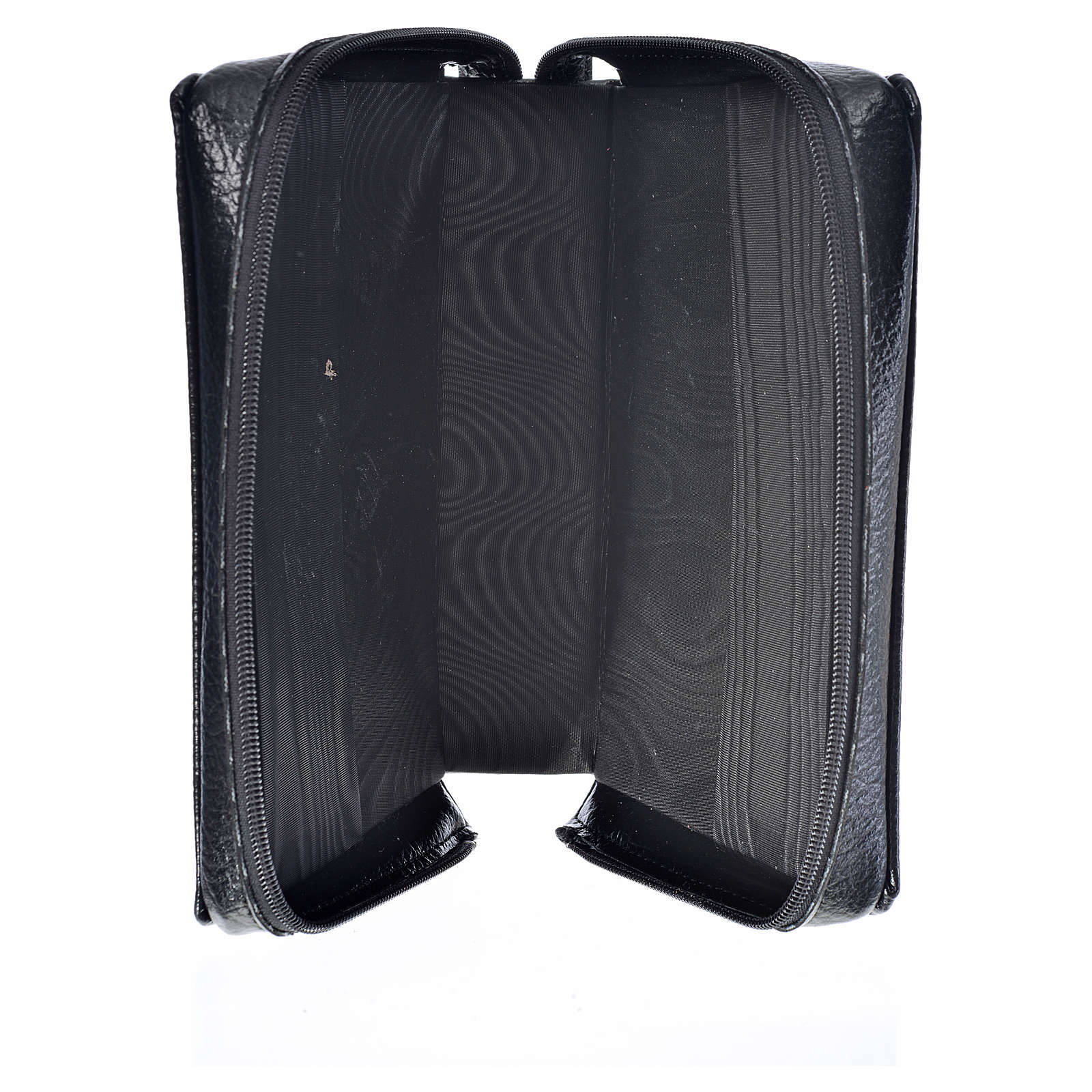 Black bonded leather cover for Morning and Evening prayer with image of Our Lady of Kiko 4