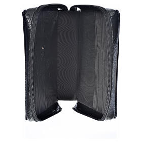 Black bonded leather cover for Morning and Evening prayer with image of Our Lady of Kiko s3