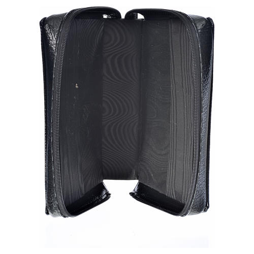 Black bonded leather cover for Morning and Evening prayer with image of Our Lady of Kiko 3