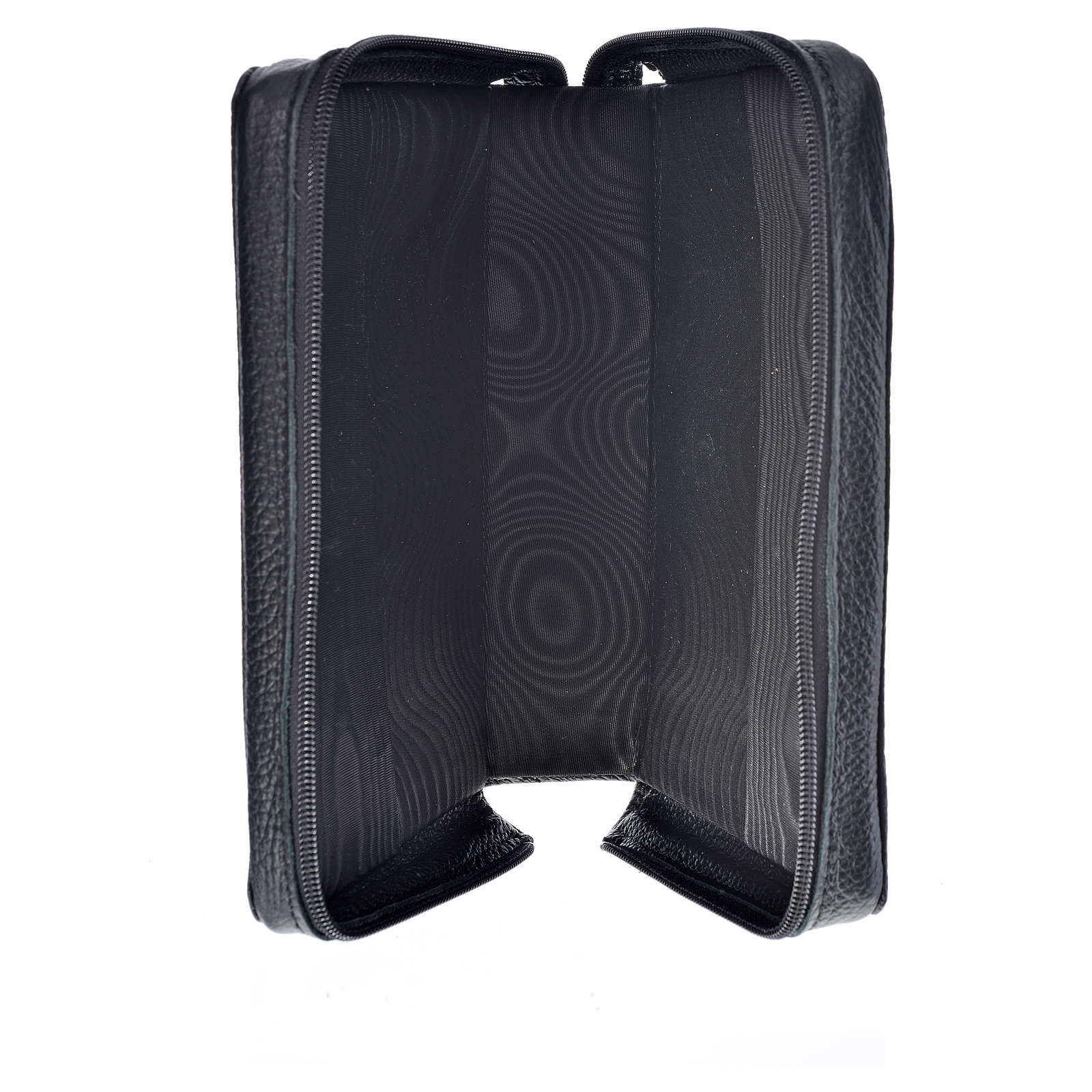 Morning and Evening Prayer cover, black genuine leather with image of Our Lady of Kiko 4