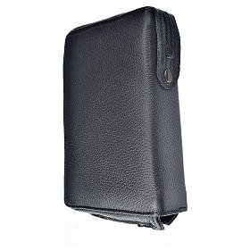 Morning and Evening Prayer cover, black genuine leather with image of Our Lady of Kiko s2