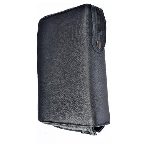 Morning and Evening Prayer cover, black genuine leather with image of Our Lady of Kiko 2