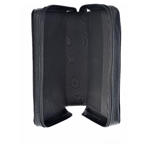 Morning and Evening Prayer cover, black genuine leather with image of Our Lady of Kiko 3