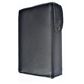 Morning and Evening Prayer cover in black genuine leather with image of Our Lady of Kiko s2