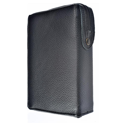 Morning and Evening Prayer cover in black genuine leather with image of Our Lady of Kiko 2