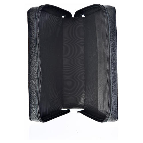 Morning and Evening Prayer cover in black genuine leather with image of Our Lady of Kiko 3