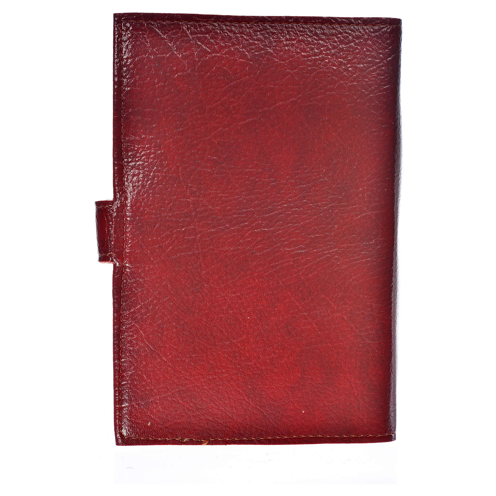 Cover for Morning and Evening prayer with image of Our Lady of Vladimir in burgundy leather imitation 4