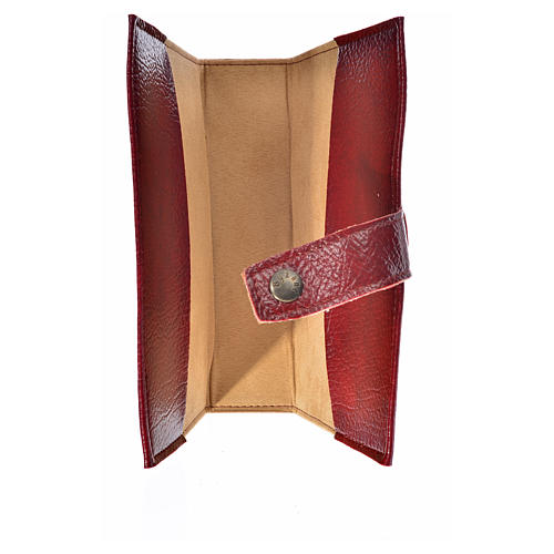 Cover for Morning and Evening prayer with image of Our Lady of Vladimir in burgundy leather imitation 3