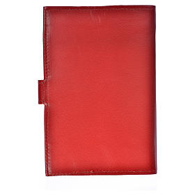 Morning and Evening Prayer cover red leather with Our Lady of Tenderness s3