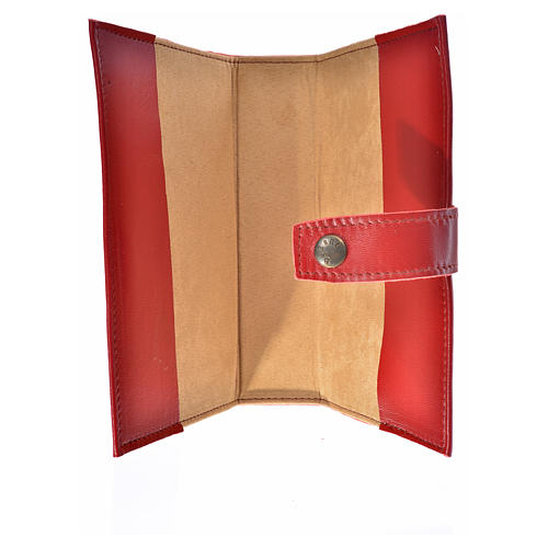 Morning and Evening Prayer cover red leather with Our Lady of Tenderness 4