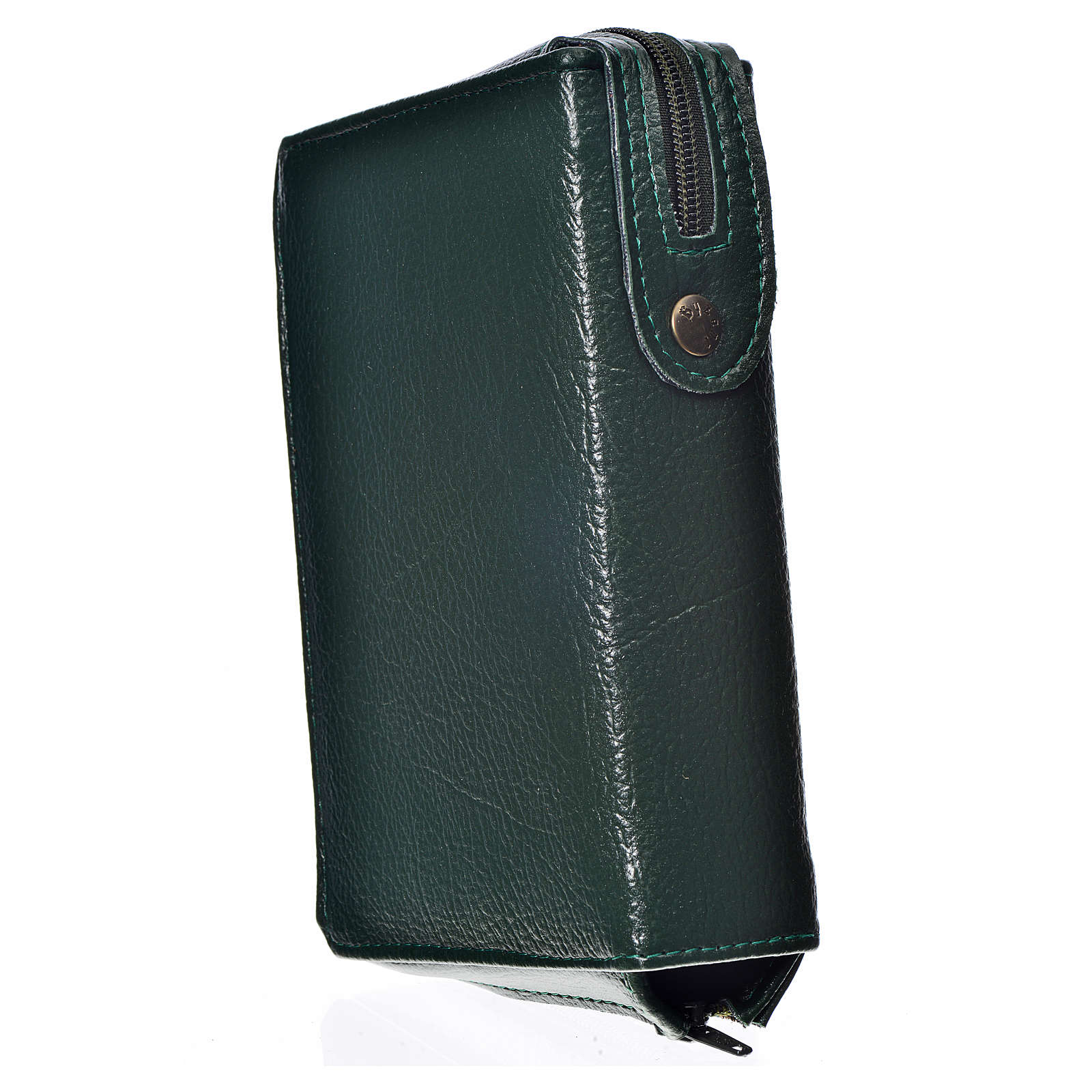 Daily prayer cover green bonded leather, Our Lady of the Tenderness 4